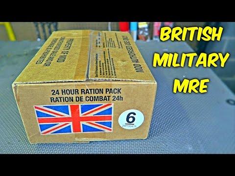 Testing British Military MRE (24Hr Combat Food Ration)