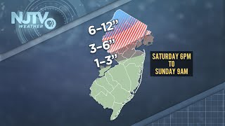 Snow, ice, wind and rain: It's all on the way this weekend for Jersey