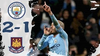 Manchester City vs West Ham United 2-1 ● All Goals (03/12/2017) HD