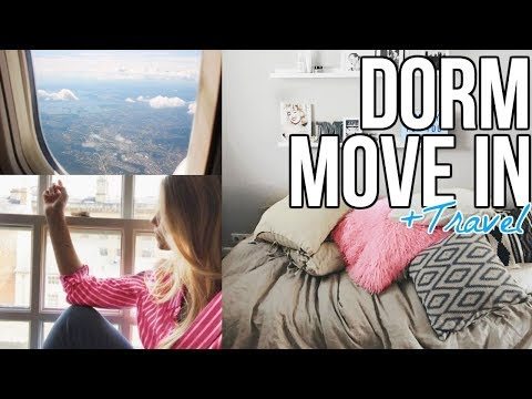 COLLEGE Dorm Move In Day and Travel To University Vlog 2017!