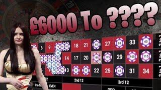 £6,000 vs Live Roulette!!!