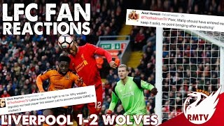 Liverpool v Wolves 1-2 | #LFC Fan Reactions