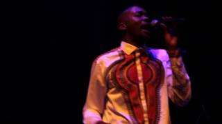 Ntsika Rise during his gospel and afropop set.