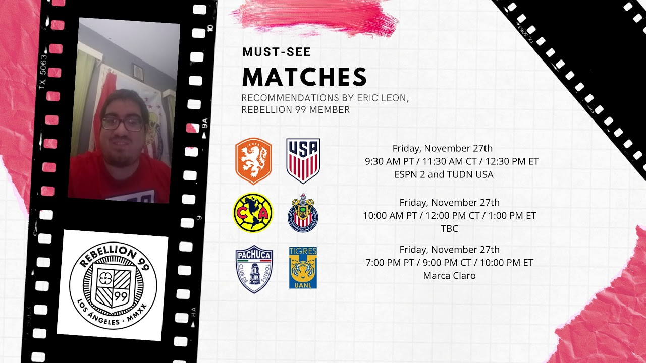 Must-See Matches I November 27-29, 2020
