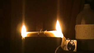 Burning a candle at both ends - Time Lapse