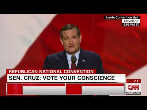 Ted Cruz booed off stage at RNC for not endorsing Donald Trump