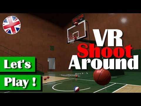 """Virtual Reality Basketball game """"VR Shoot Around"""" - First Look (english commentary)"""