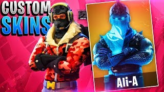 NEW FREE CUSTOM SKINS IN FORTNITE! - Make Your Own Skins in Fortnite Battle Royale!