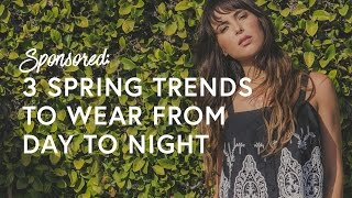 3 Cool-Girl Ways To Wear Spring Trends From Day To Night | The Zoe Report by Rachel Zoe