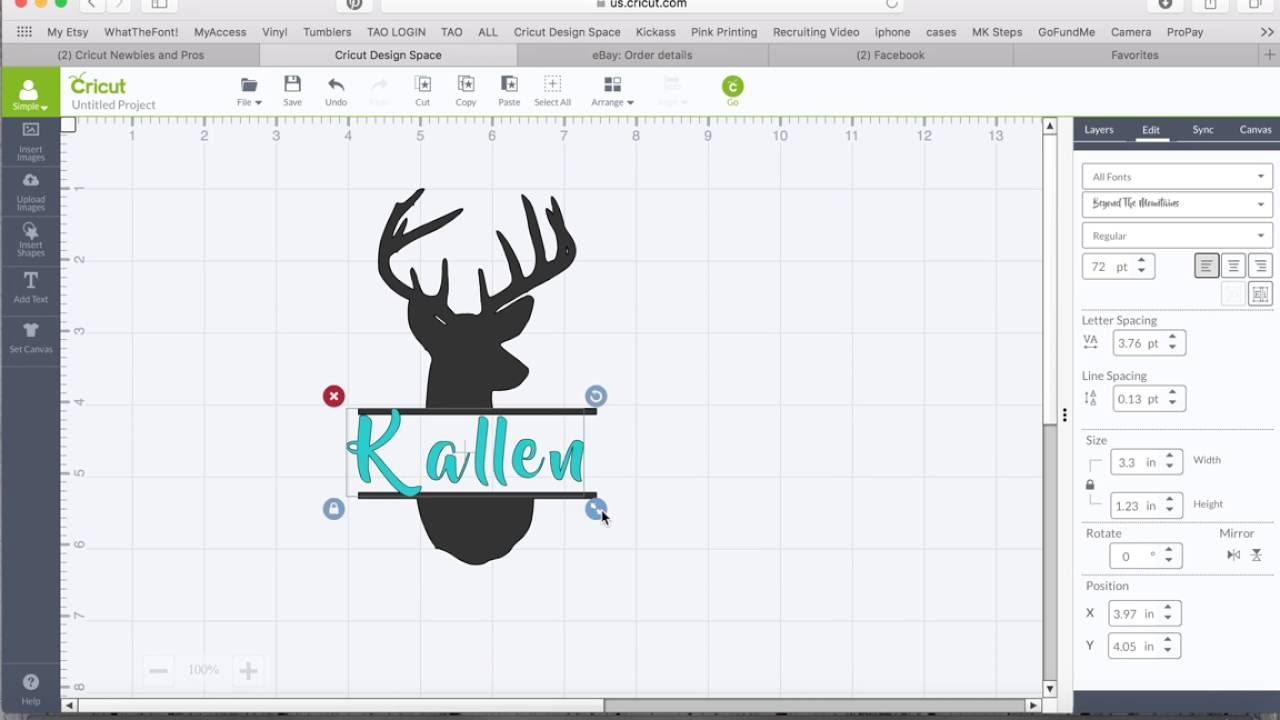 Slicing Or Cutting An Image In Half Within Cricut Design Space