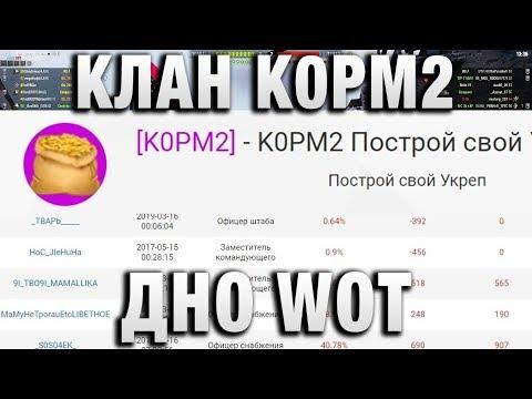 КЛАН К0РМ2 - ДНО WORLD OF TANKS. ПОДРАЖАТЕЛИ В ВОТ thumbnail