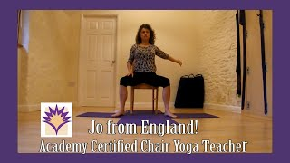 Jo in England shares 2 creative Chair Yoga Vignettes in her Chair Yoga Certification Teachback