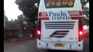 chasing a paulo volvo B9R bus in Belgaum india