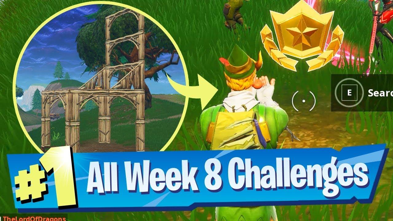 Fortnite Season 5 Week 8 Challenges Guide Search Between 3