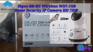 Digoo BB-M1 Wireless WiFi USB Baby Monitor Alarm Home Security IP Camera HD 720P Two Way Audio