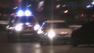 Dubai Police car on scene of a MVA