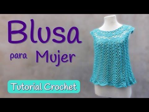 Como tejer una Blusa Top a crochet (1/2) - YouTube