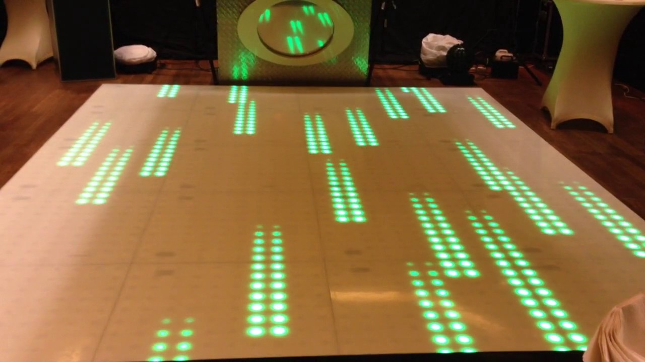 Verlichte dansvloer huren 100 pixel LED - YouTube