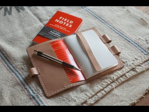 Making a Leather Notebook Case By Hand