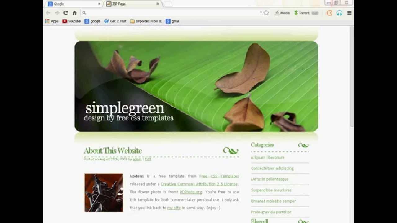 how to create jsp web application by using templat - YouTube