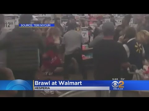 Brawl Breaks Out At Walmart