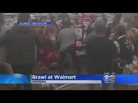 Brawl Breaks Out At Walmart