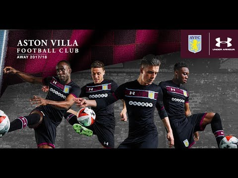 ae2f9ee31 Under Armour Aston Villa 2017 18 Home and Away Jerseys - YouTube
