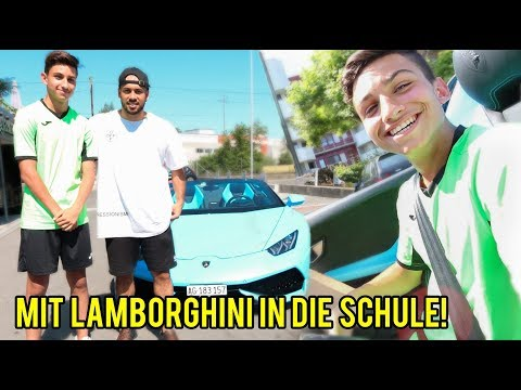 Abonnenten mit Lamborghini von der Schule abholen!!