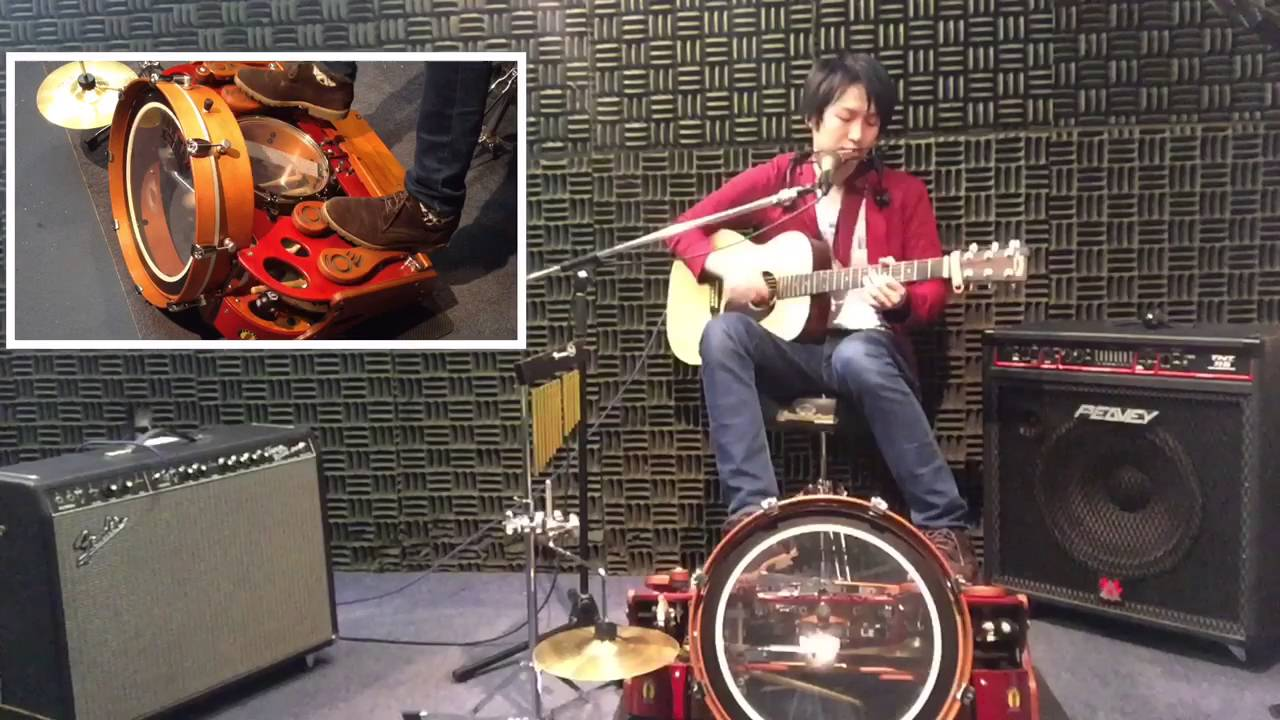 george yui one man band foot drum youtube. Black Bedroom Furniture Sets. Home Design Ideas
