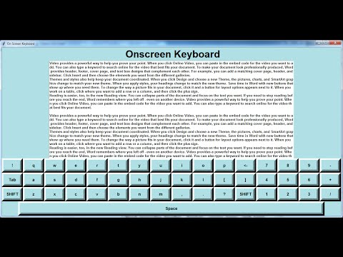 How to Create a GUI Onscreen Keyboard in Python - Tutorial