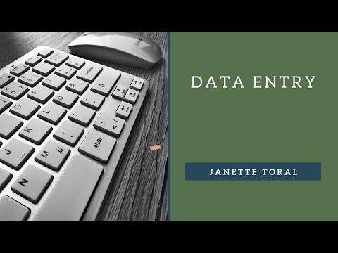 Data Entry (Lesson 2)