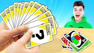 Playing The LUCKIEST HAND In UNO! (IMPOSSIBLE)