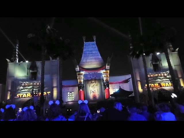 Star Wars  A Galactic Spectacular Hollywood studios star wars end of night show 4k