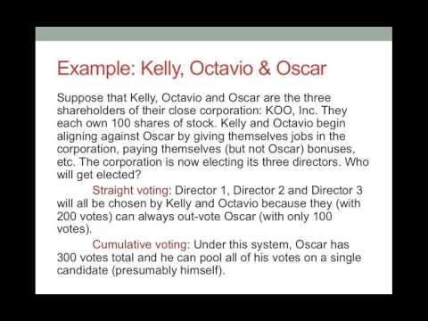 Business Organizations - Corporations - Shareholders