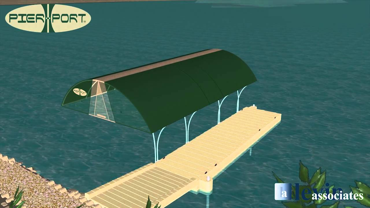 Pier Port canopy for boat. One side version. PPS121 - YouTube