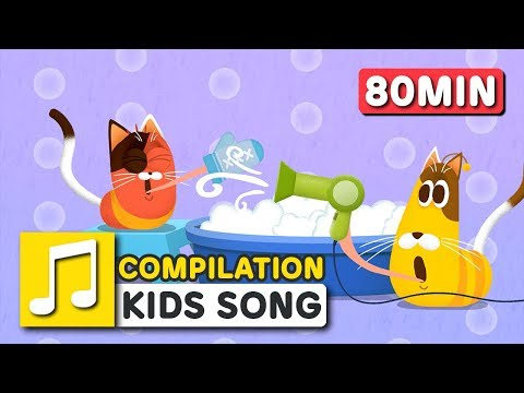 GREAT JOBS IN THE WORLD and other songs | 80 min | LARVA KIDS | Nursery Rhyme for kids