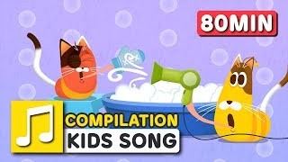 GREAT JOBS IN THE WORLD and other songs   80 min   LARVA KIDS   Nursery Rhyme for kids