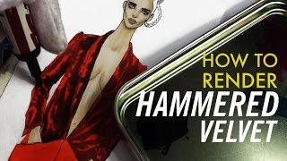 HAMMERED VELVET RENDERING Haider Ackerman F