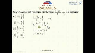 [Zadanie 5] Matura z matematyki poziom podstawowy. Maj 2018.