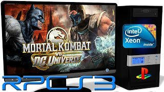 RPCS3 0.0.5 [PS3] - Mortal Kombat vs. DC Universe [Gameplay] New RSX. Async Shaders. Vulkan api #3