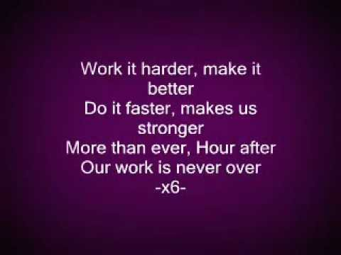 Harder better faster stronger  Lyrics