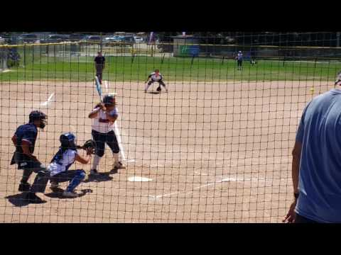 SANTA MONICA SOFTBALL PLAYER MARISOL SOLANO HITS A SOLO HR IN 2016 WESTERN NATIONAL CHAMPIONSHIP