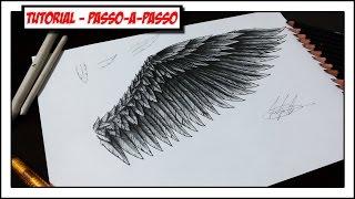 Como desenhar Asas (Passo-a-passo) - Parte 1 - How to draw Wings #1