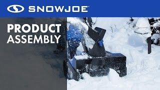 iON18SB - Snow Joe 40-Volt Cordless Snow Blower - Let's Open the Box - How to Assemble and Start