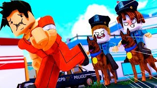 WE ARREST ALL! BEBE VITA, MILO AND ADRI at MADCITY ROBLOX POLICIES AND JAILBREAK LADRONES
