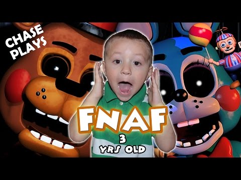 Five Nights At Freddys 3 Year Old Gameplay! CHASE PLAYS & JUMPS!  FNAF 2 FGTEEV