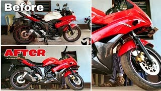 Suzuki Gixxer SF Modified Painting Restoration Part 2