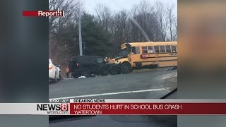 PD: Watertown school bus involved in crash
