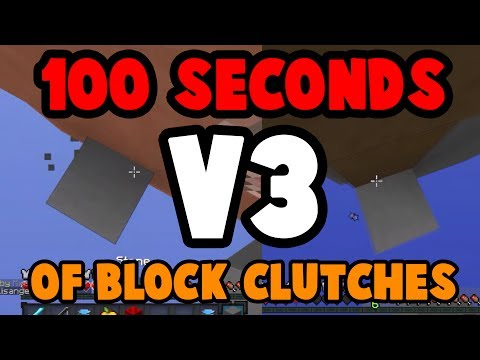 100 Seconds of BLOCK PLACE CLUTCHES V3 - Hypixel Skywars