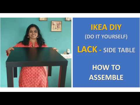 IKEA Do-It-Yourself Furniture | LACK Side Table | How to Assemble
